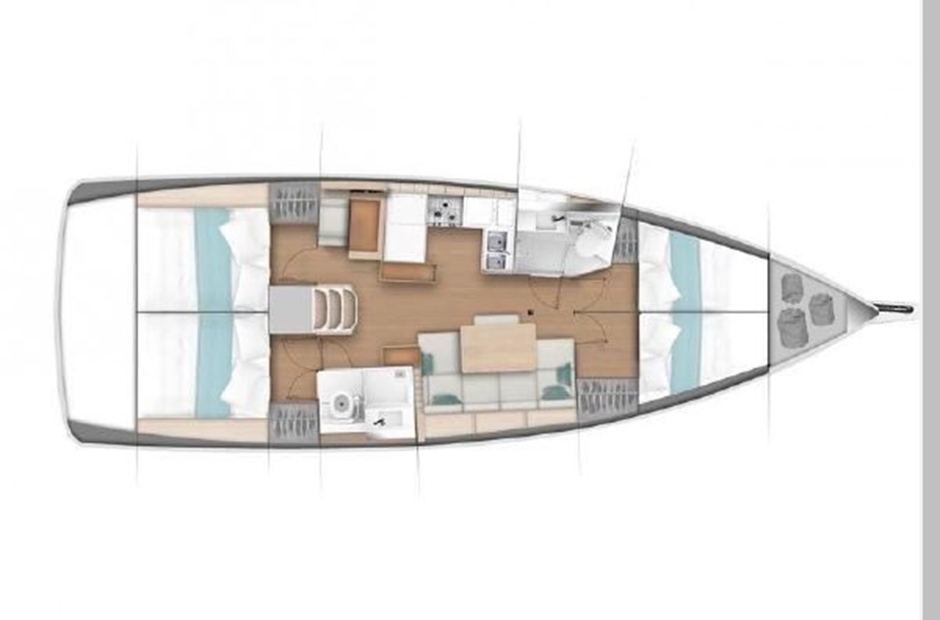 2019 JEANNEAU Sun Odyssey 440 Cruising Sailboat 2607334