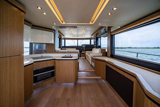 Main Salon and Galley 2017 ABSOLUTE 52 Navetta Motor Yacht 2608579