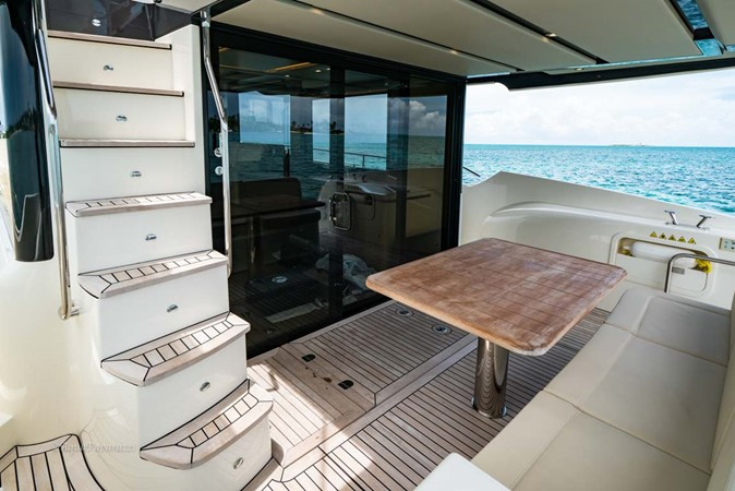 Stairs from Flybridge to Aft Deck 2017 ABSOLUTE 52 Navetta Motor Yacht 2608618