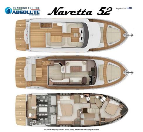 Deck Layouts 2017 ABSOLUTE 52 Navetta Motor Yacht 2608637