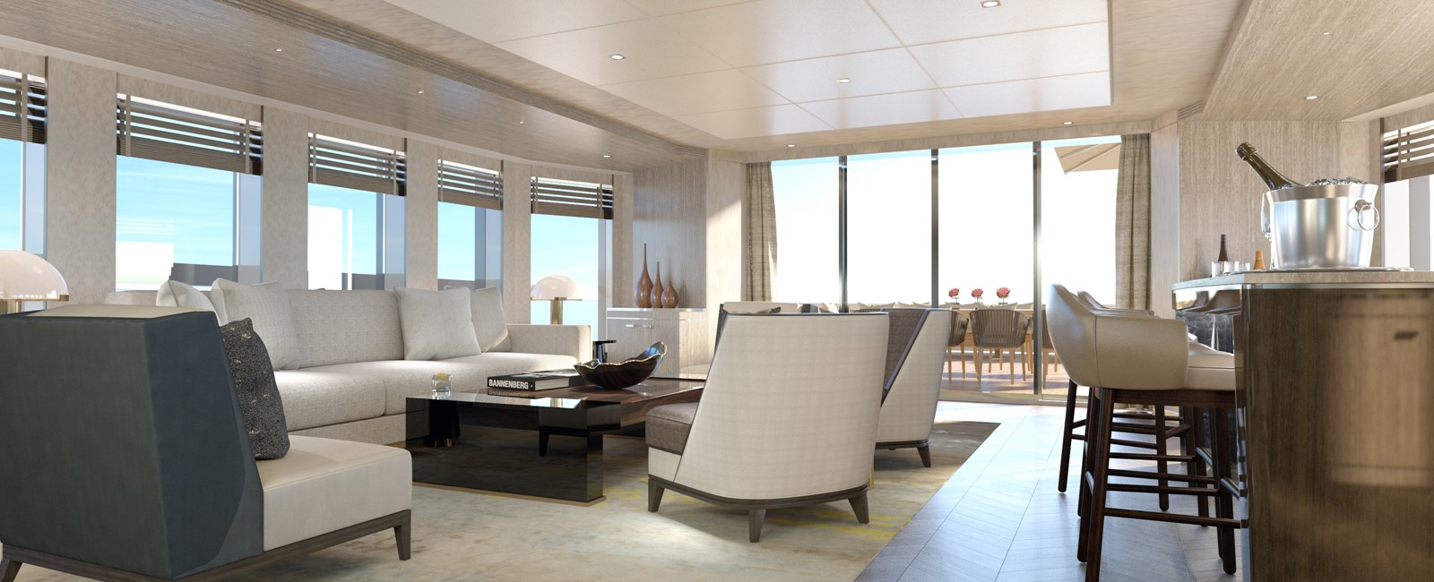 Bridge deck sky lounge 2020 HEESEN YACHTS  Motor Yacht 2608972