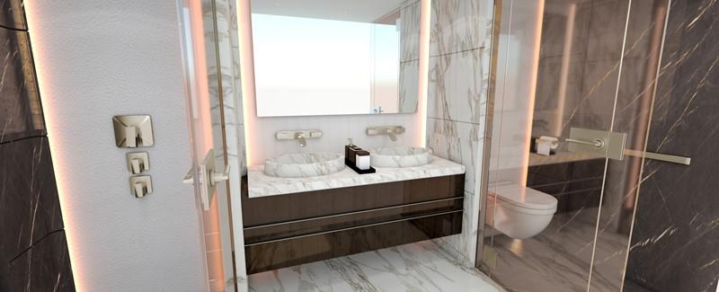 Guest bathroom 2020 HEESEN YACHTS  Motor Yacht 2608978