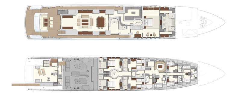 Main deck & Lower deck 2020 HEESEN YACHTS  Motor Yacht 2608982