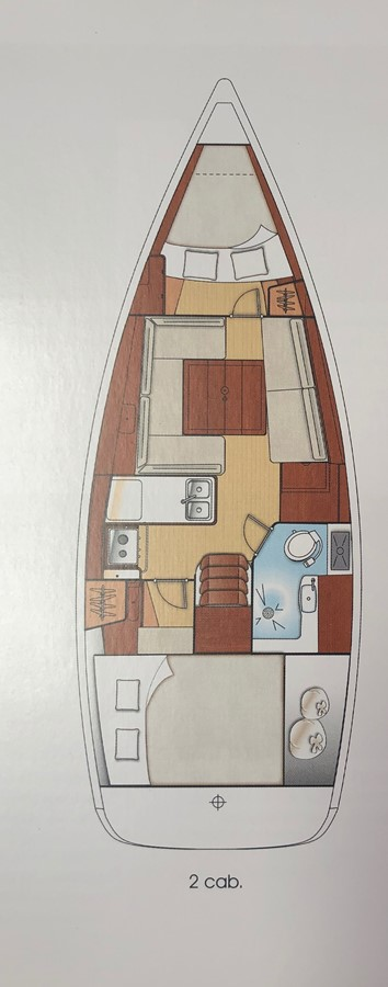 Layout 2011 BENETEAU Oceanis Sloop 2611501