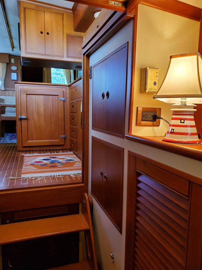 Companionway looking aft, cupboards and hanging locker 2003 GRAND BANKS 42 Classic Trawler 2615682