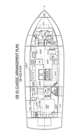 Lena Victoire Arrangement Plan 2003 GRAND BANKS 42 Classic Motor Yacht 2613062