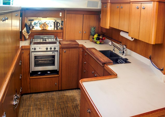 GALLEY 1999 ADMIRAL MARINE Custom Performance Sailing Yacht Cutter 2614150