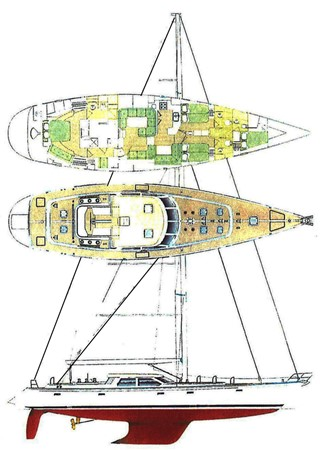 LAYOUT 1999 ADMIRAL MARINE Custom Performance Sailing Yacht Cutter 2614170