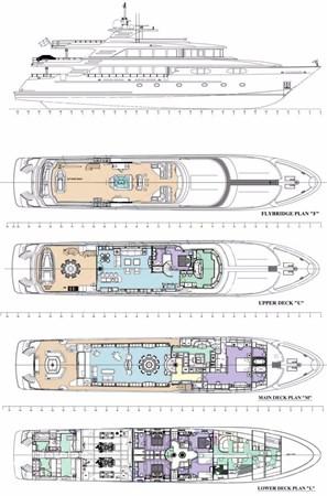 142' Richmond 2008/2019 FAR FROM IT General Arrangement  2008 RICHMOND YACHTS  Motor Yacht 2694955