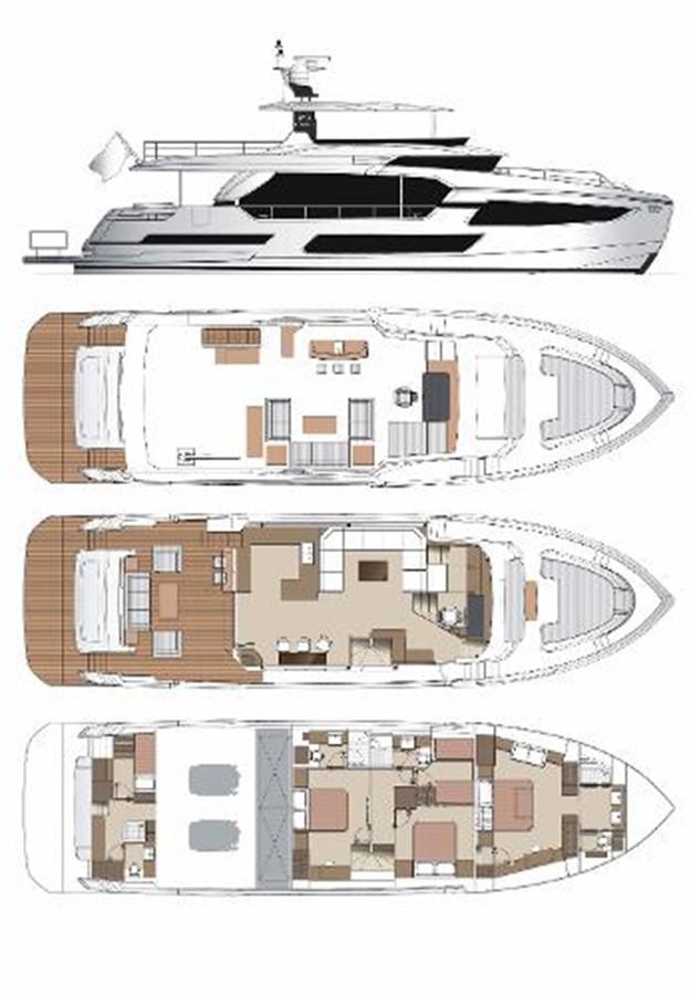 Manufactured Image 2020 HORIZON FD75 SKYLINE Motor Yacht 2617647