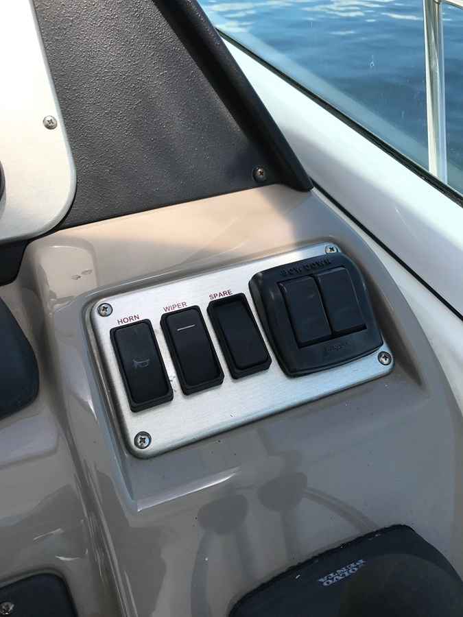 Rocker Switch Panel and Trim Tabs Controls 2008 Cruisers Yachts 360 Express Cruiser 2617972