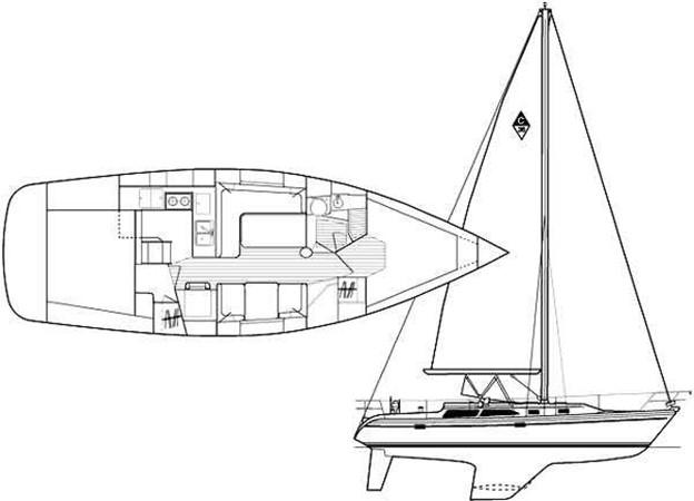 1996 CATALINA 36 MK II Cruising Sailboat 2618924