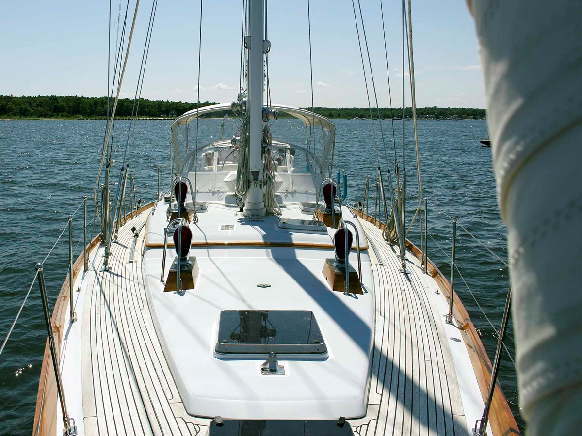 Deck, Looking Aft 1994 LITTLE HARBOR Center Cockpit Sloop Cruising Sailboat 2624722