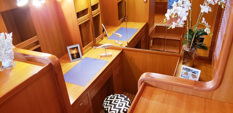 Custom Work Space in Master Stateroom 2003 MARLOW  Motor Yacht 2625836