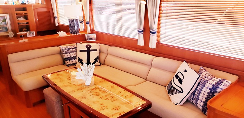 Salon Looking to Starboard Settee 2003 MARLOW  Motor Yacht 2625872