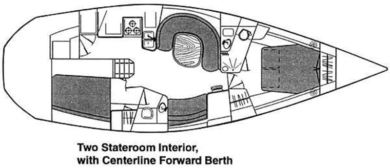 2 1996 CATALINA 42 MKII Cruising Sailboat 2626268