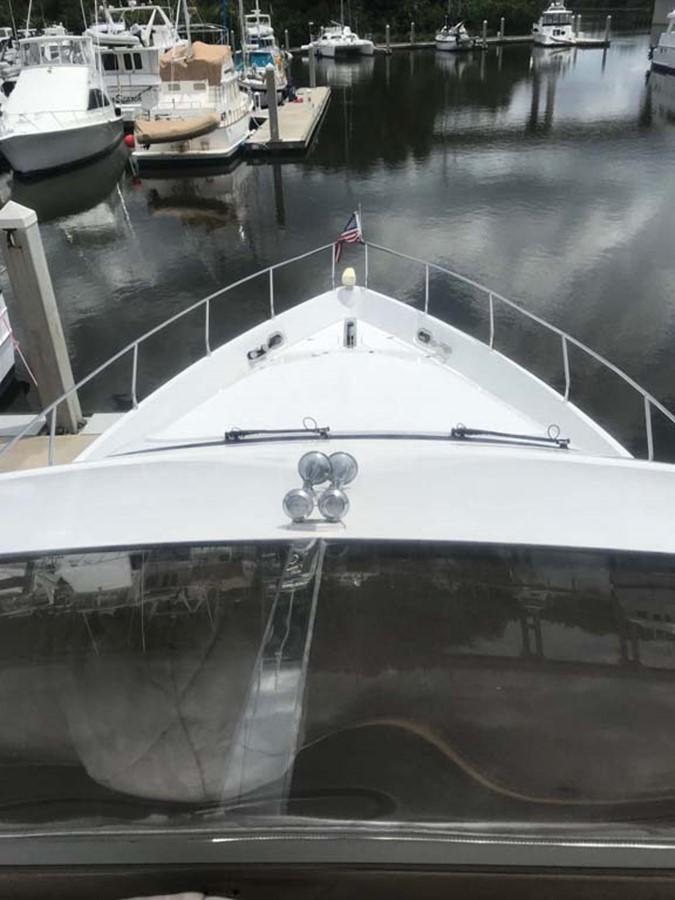 Foredeck from Flybridge 2004 MARQUIS Flybridge Motor Yacht Motor Yacht 2673389