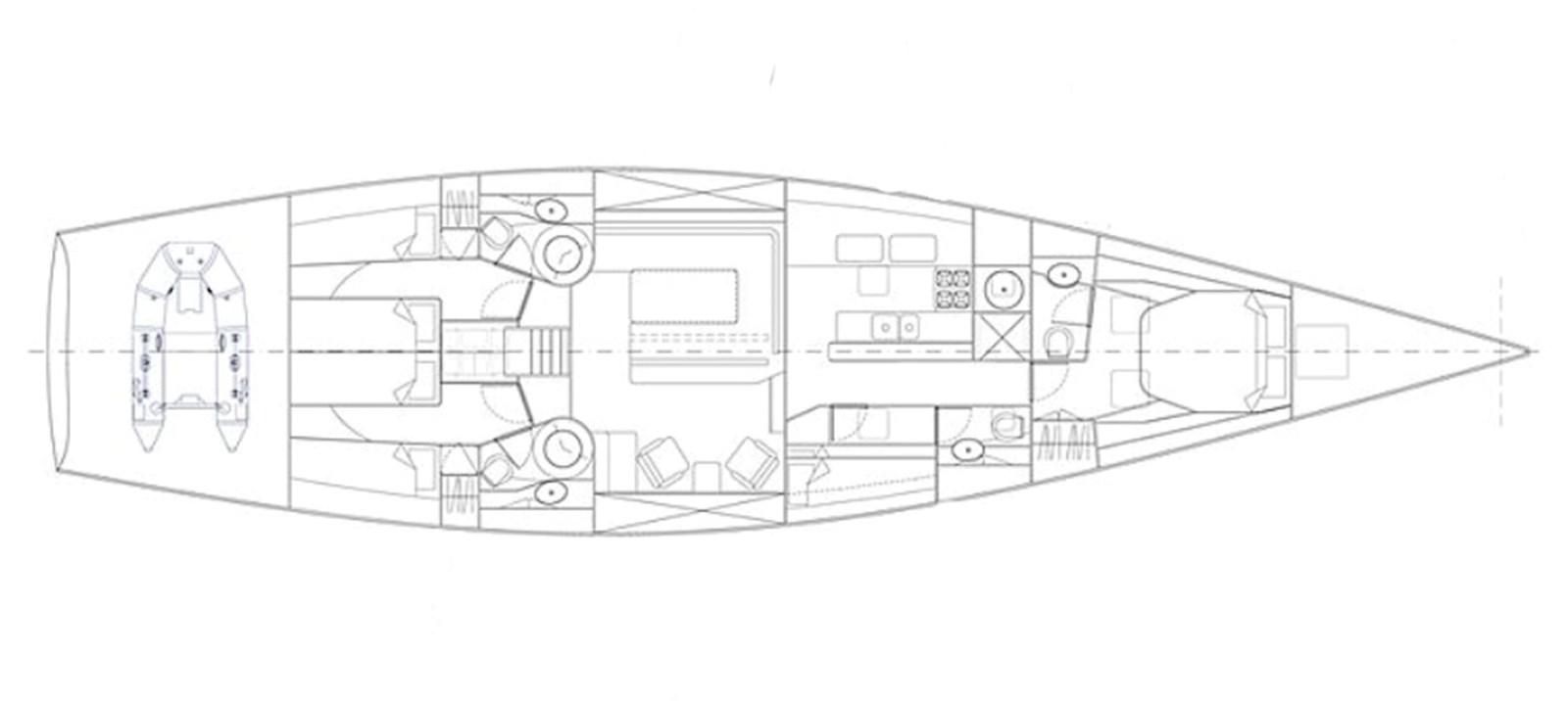 layout pilot 65  2010 TRIPP Tripp 65 Cruising Sailboat 2650945