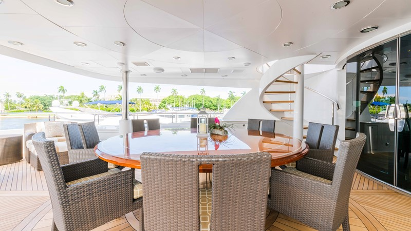Upper Aft Deck Dining  2008 TRINITY Tri-Deck Motor Yacht 2672585
