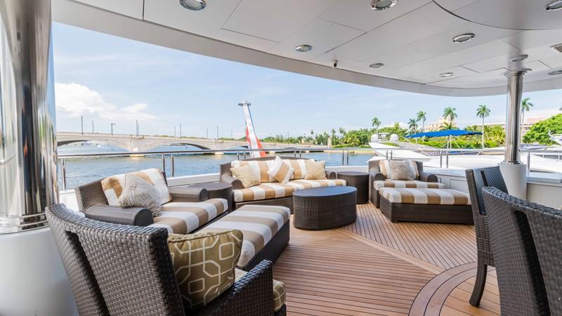 Upper Aft Deck Seating 2008 TRINITY Tri-Deck Motor Yacht 2672586