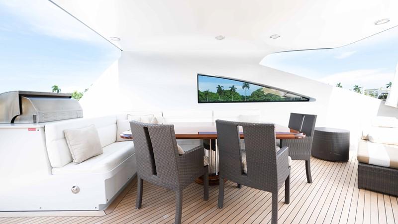 Upper Aft Deck Dining 2008 TRINITY Tri-Deck Motor Yacht 2674056
