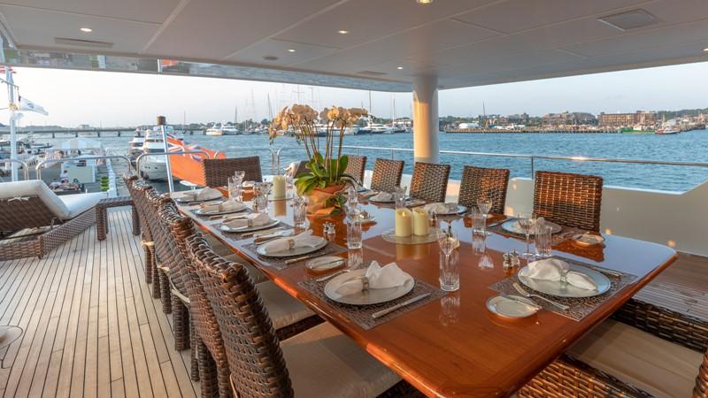 BRIDGE DECK AFT DINING  2001 CHRISTENSEN Tri Deck Motor Yacht  Motor Yacht 2673703