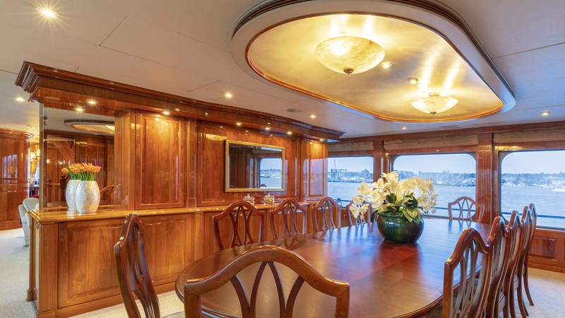 DINING  2001 CHRISTENSEN Tri Deck Motor Yacht  Motor Yacht 2673707