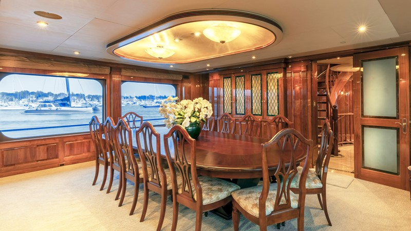 DINING  2001 CHRISTENSEN Tri Deck Motor Yacht  Motor Yacht 2673708