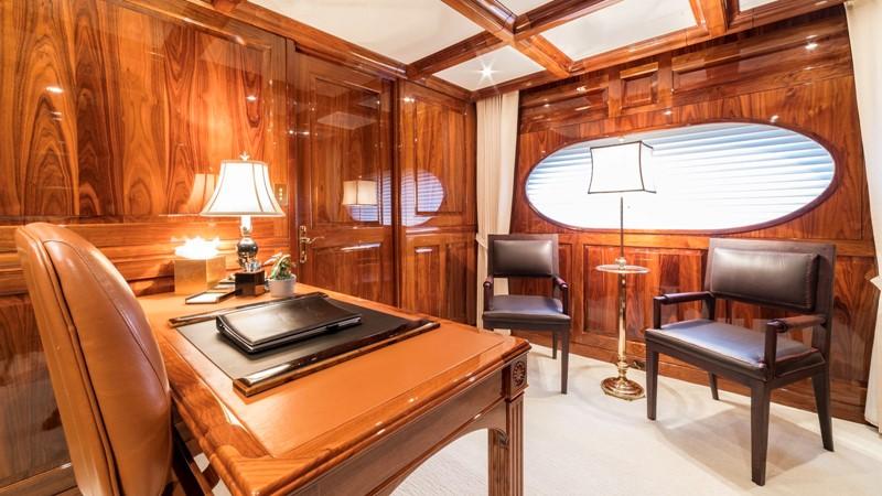 MASTER STATEROOM PRIVATE OFFICE  2001 CHRISTENSEN Tri Deck Motor Yacht  Motor Yacht 2673716