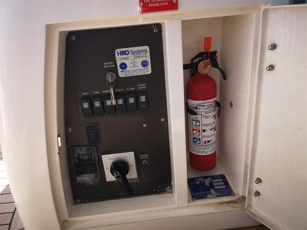 Aft Deck Battery Switch and Fire Extinguisher 2003 SUNSEEKER Manhattan 74 Motor Yacht 2674107