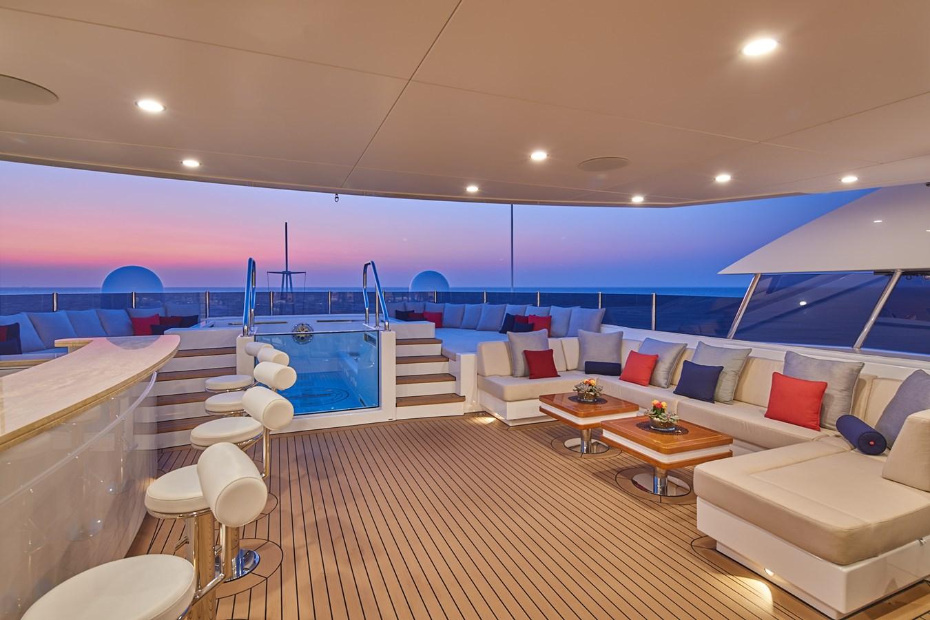Jacuzzi deck 2015 SUNRISE  Mega Yacht 2968878