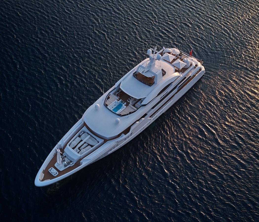 At Anchor High above port bow 2015 SUNRISE  Mega Yacht 2968892