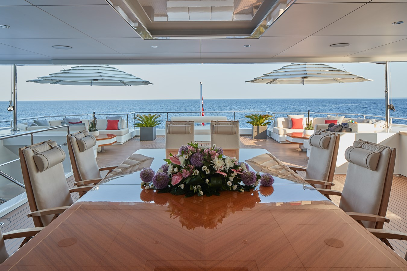 Bridge deck dining 2015 SUNRISE  Mega Yacht 2968894