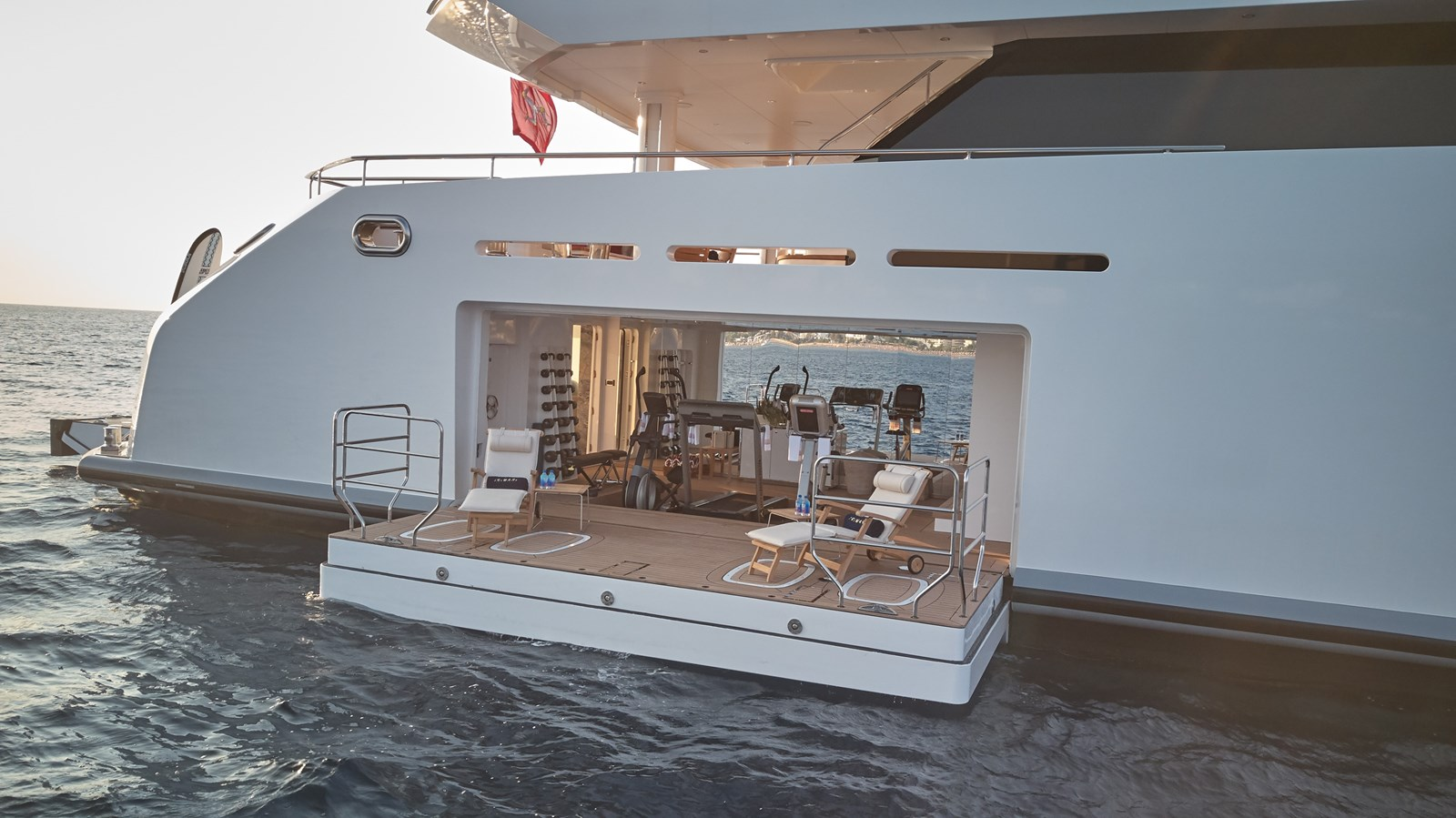 Gym from outboard 2015 SUNRISE  Mega Yacht 2968902
