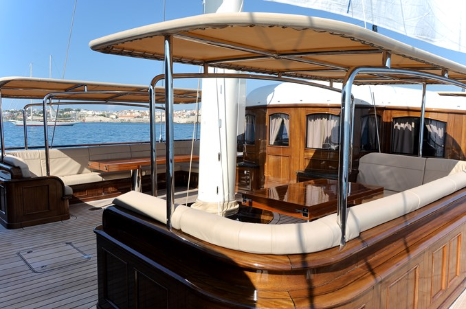 Large Seating and Tables  2013 BALK SHIPYARD Three Mast Schooner Motorsailor 2680629