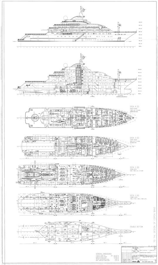 General Arrangement 2003 LURSSEN Twin Screw Displacement Yacht Motor Yacht 2690386