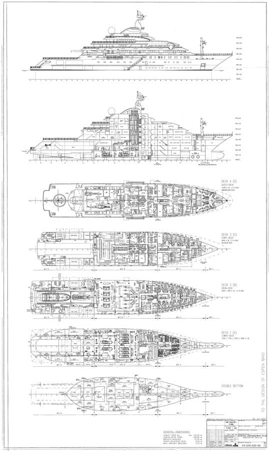 General Arrangement Plan 2003 LURSSEN Twin Screw Displacement Yacht Motor Yacht 2683465