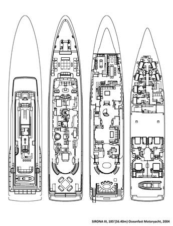 Sirona III, 185' 2004 OCEANFAST  Motor Yacht 2689415