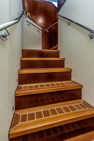 Stairs to VIP/Master Lounge 2010 PLATINUM/BLUEWATER YACHT BLDRS  Motor Yacht 2693689