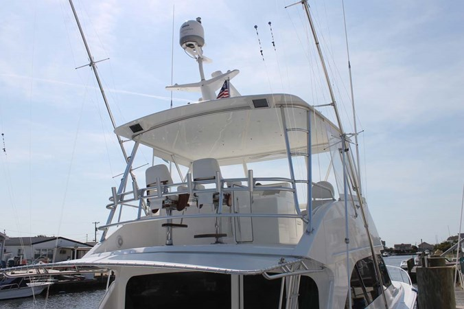 Hardtop with Enclosure and Teak Helm Chairs 2002 VIKING 52 Convertible Sport Fisherman 2698645