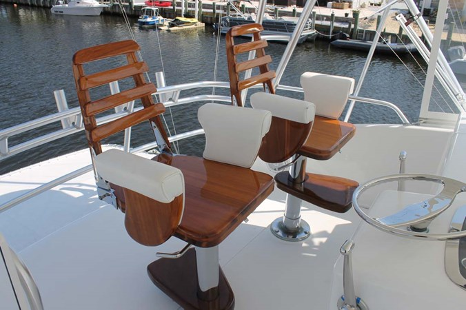 Teak Helm Chairs 2002 VIKING 52 Convertible Sport Fisherman 2698646
