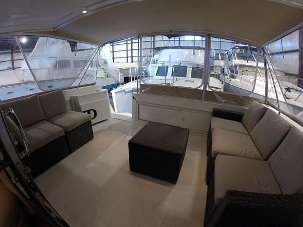 10CockpitAftWide 2004 NAVIGATOR 5700 Rival Pilothouse Motor Yacht 2708989