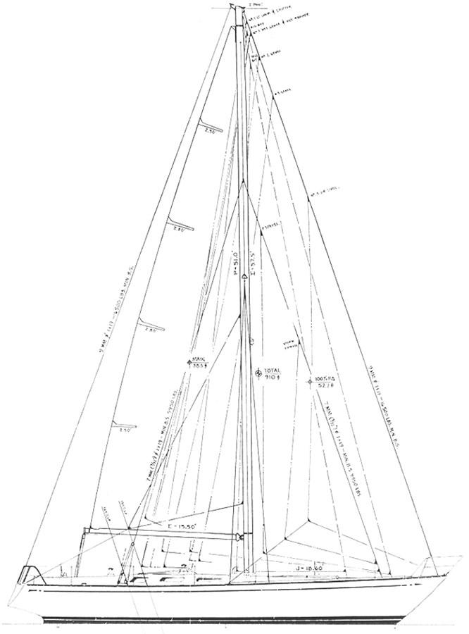 nautor-swan-44-layout-3 1973 NAUTOR'S SWAN Nautor Swan 44 Cruising Sailboat 2709924