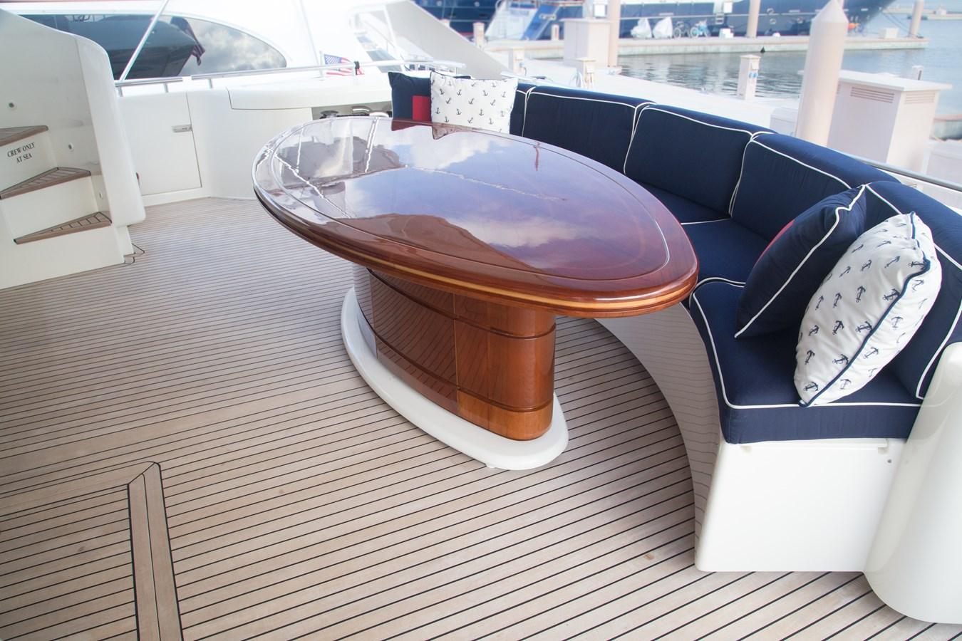 Aft Deck Dining and Seating 2003 FERRETTI YACHTS Custom Flybridge Motor Yacht 2710287