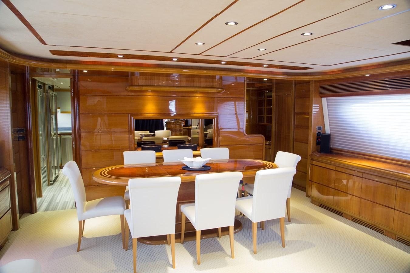 Dining for 8 People 2003 FERRETTI YACHTS Custom Flybridge Motor Yacht 2710298