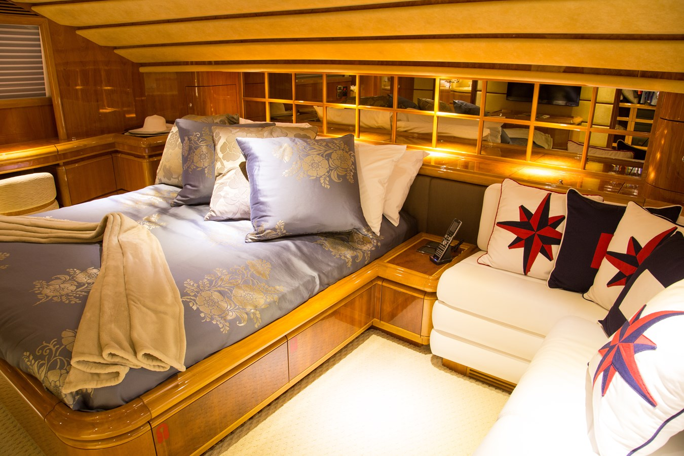 On Deck Master Stateroom 2003 FERRETTI YACHTS Custom Flybridge Motor Yacht 2710349