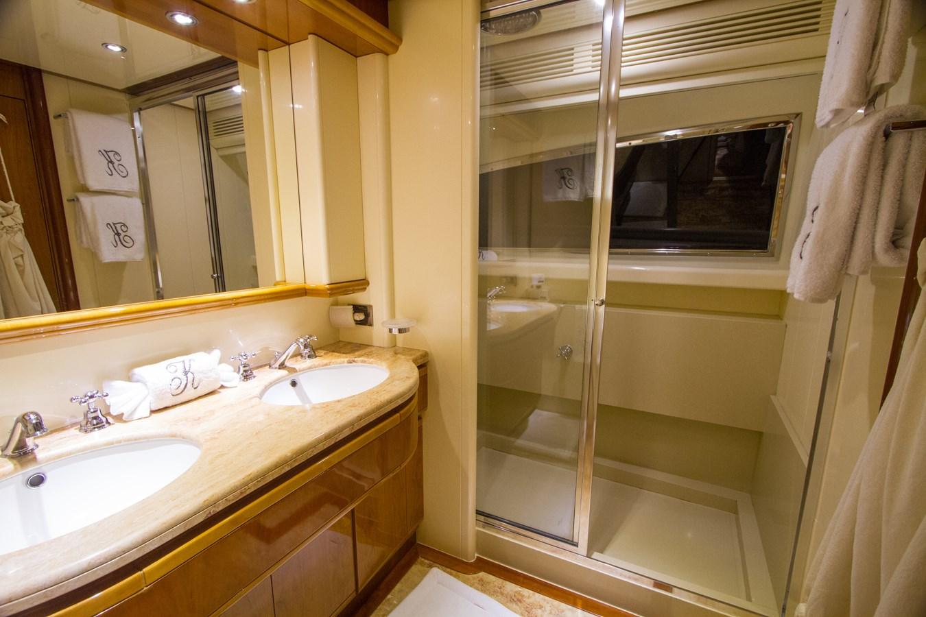 Master Sink and Shower 2003 FERRETTI YACHTS Custom Flybridge Motor Yacht 2710352