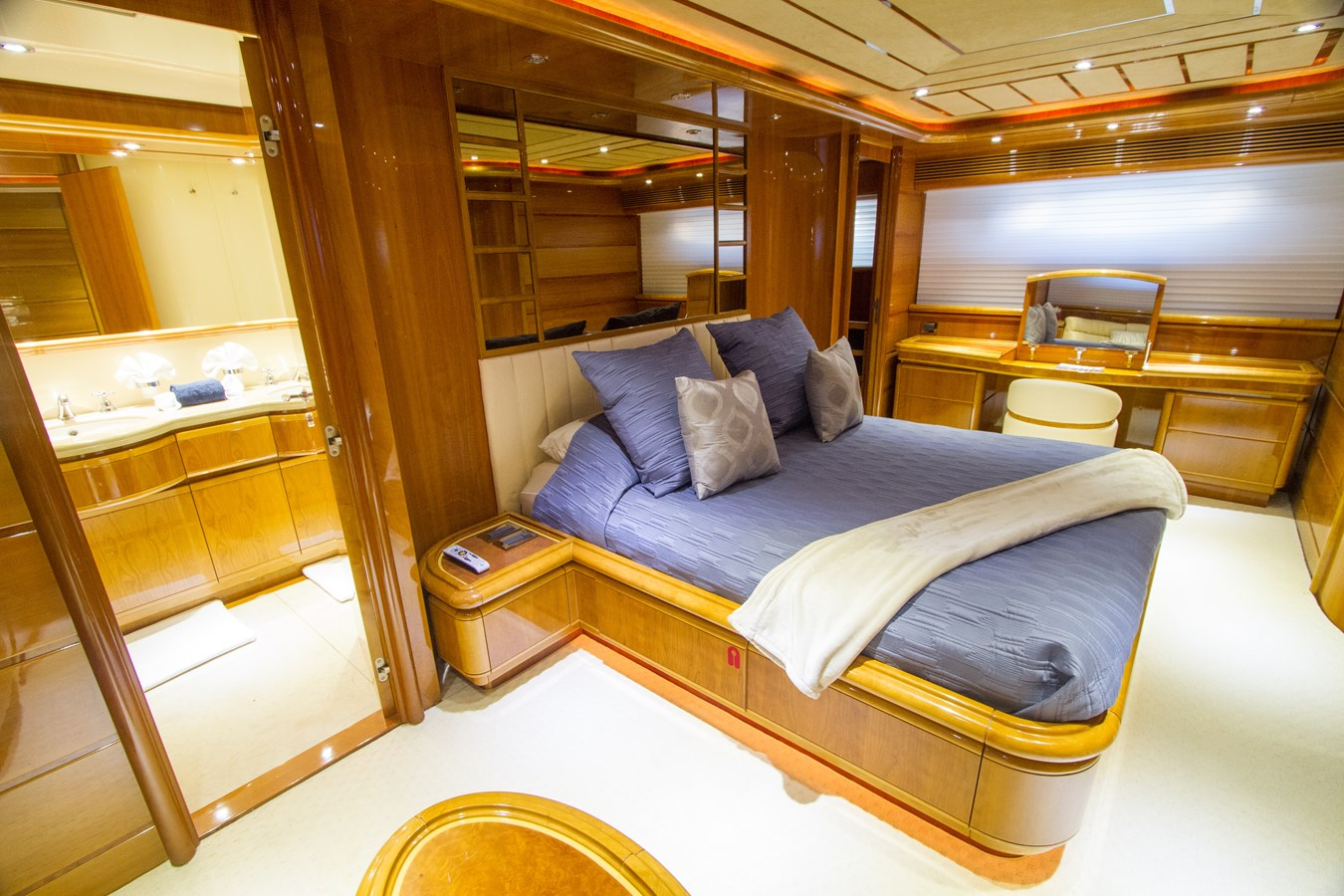 VIP Stateroom 2003 FERRETTI YACHTS Custom Flybridge Motor Yacht 2710355