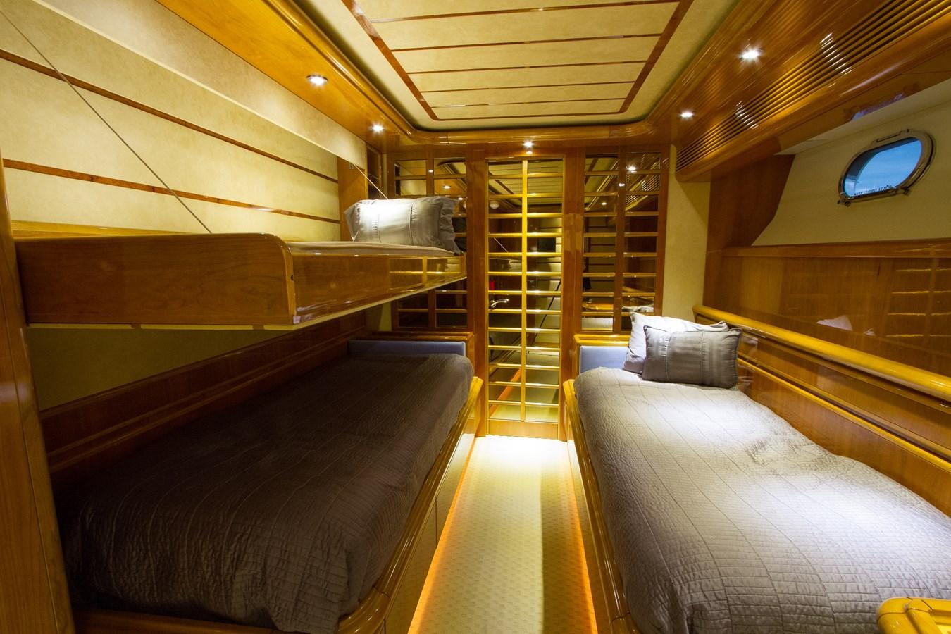 Guest Staterooms with Pullman Berth 2003 FERRETTI YACHTS Custom Flybridge Motor Yacht 2710361