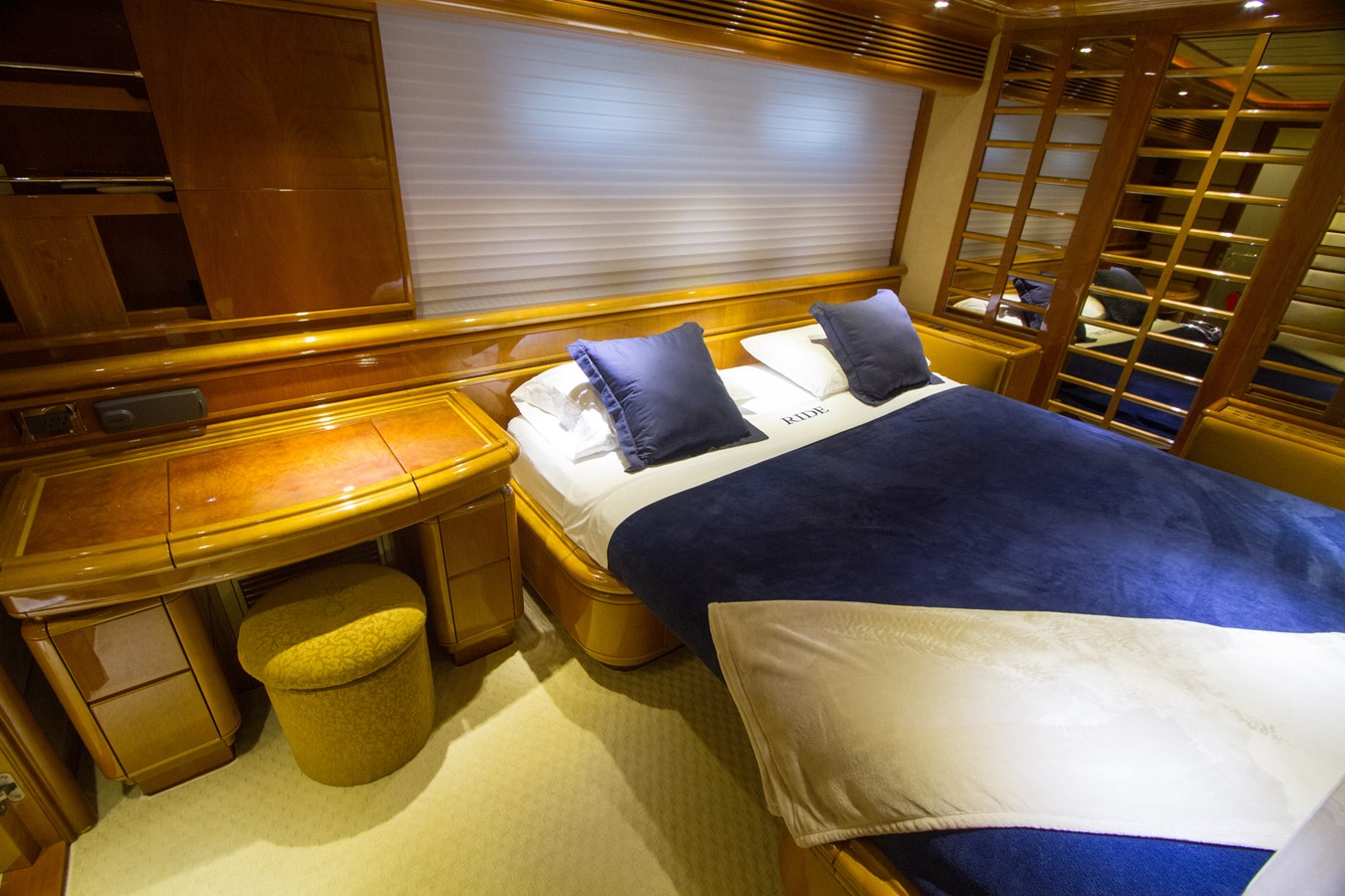 Second Portside Stateroom Converts to King Size Bed 2003 FERRETTI YACHTS Custom Flybridge Motor Yacht 2710363